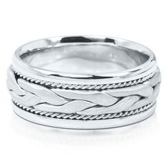 Triton Men S Wave Pattern Band In Sterling Silver 8mm Available At Helzbergdiamonds Helzberg Diamonds Pinterest Engagements And Wedding