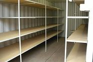 DIY pantry shelving inside the shipping container. Can Storage, Storage Sets, Smart Storage, Shipping Container Storage, Cargo Container, Shipping Containers, Shed Organization, Container Organization, Sea Containers