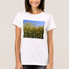 #Yellow Wildflower Field T-Shirt - #country gifts style diy gift ideas