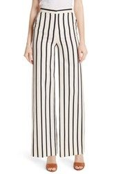 Veronica Beard Xena Stripe Wide Leg Pants available at #Nordstrom