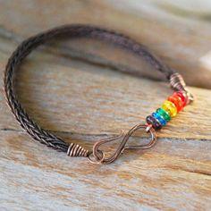viking knit jewelry   Artisan Copper Viking Knit Bracelet with Rainbow by NeroliHandmade