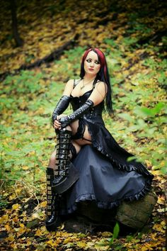 Goth - Another! Hot Goth Girls, Punk Girls, Gothic Girls, Gothic Chic, Gothic Lolita, Goth Beauty, Dark Beauty, Gothic Outfits, Gothic Dress