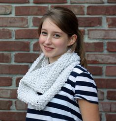 """Knitted """"Snowbaby"""" Scarf,  $39.00"""