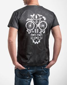 Moisture wicking cycling t-shirt by SpeakStick Cycling T Shirts, Cycling Jerseys, Sport T Shirt, Cool T Shirts, Colorful Shirts, Sportswear, Bike, Tees, Casual