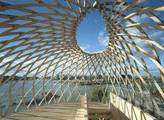 : Kupla – Helsinki Zoo Lookout Tower / Avanto Architects , Ville Hara and Anu Puustinen . Helsinki, Lookout Tower, Wood Architecture, Amazing Architecture, Fancy Houses, Shade Structure, Urban Landscape, Landscape Design, Facade