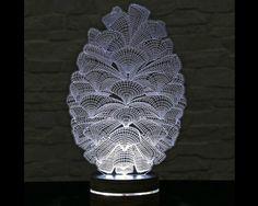 3D LED Lamp, Pine Cone Shape, Decorative Lamp, Home Decor, Pine Cone Decor, Office Decor, Plexiglass Art, Art Deco Lamp, Acrylic Night Light by ArtisticLamps
