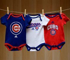 Cubs Baby 3 Piece Bodysuit Set
