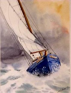 Письмо more Pins for Boats board Watercolor Water, Watercolor Landscape, Landscape Paintings, Watercolor Paintings, Sailboat Painting, Boat Art, Nautical Art, Water Crafts, Painting Inspiration