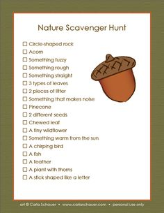 Camping Checklist Printable | Print Scavenger Hunt for Tweens Print Scavenger Hunt for Ages 3–8