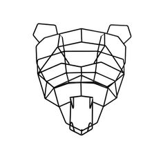 Polar Bear Geometric Animal Head - this one and the other could be fun up on the yellow wallpaper wall esp given the bazillion Cal ties MH has
