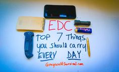 Here's a quick list of some things you should have with you every day since you can't carry everything. http://graywolfsurvival.com/275358/edc-top-things-you-should-carry-every-day/