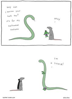 Liz Climo is back, and she has a whole book of hilarious animal comics! From killer whales to porcupines, dinosaurs to polar bears, Climo attributes a delightful simple sense of humour to all her animal Humor Animal, Funny Animal Comics, Funny Comics, Funny Animals, Funny Cute, The Funny, Liz Climo Comics, Humor Grafico, Just For Laughs