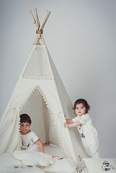 Boho 5 pole teepee tent for kids, children playhouse for indoor and outdoor using, top item by Minicamp, 100% handmade in EU, children teepee perfect Christmas gift! #handmade