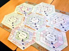 """""""Quality example of Connectagons. Students analyse characters & themes then position shapes to make links (in orange)"""" Essay Tips, Essay Writing Tips, Essay Prompts, Teaching Tools, Teaching Resources, Teaching Ideas, Essay Planner, Solo Taxonomy, Visible Thinking"""