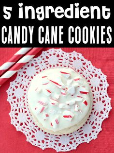 Candy Cane Cookies Recipe! Easy Simple Cake Mix Cookie! With just 5 ingredients, this fun and festive treat will be one of the EASIEST desserts you'll ever make! Go grab the recipe and give it a try! Cake Mix Cookie Recipes, Cake Mix Cookies, Best Cookie Recipes, Yummy Cookies, Popular Recipes, Christmas Desserts, Christmas Treats, Christmas Time, Merry Christmas