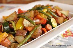 Yummy Roasted Winter Vegetable recipe on iheartnaptime.com