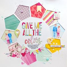 Give Me All the Colors by @paigeevans #scrapbooking #pinkpaislee @pinkpaislee