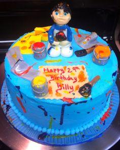 Painter birthday cake