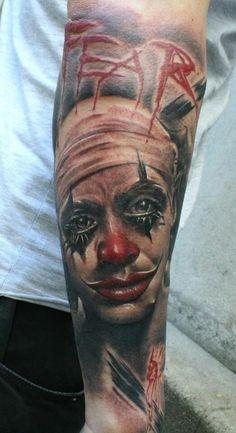 Awesome clown tattoo