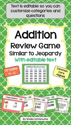 Amazon hands on math projects with real life applications looking for an easy way to review addition with your class this is it fandeluxe Image collections
