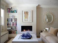 [CasaGiardino]  ♡  Before the TV is revealed... (Transitional Living Room by Thorp Design)