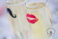 Cute champagne flutes!