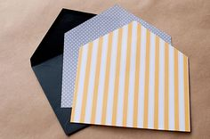 DIY with the Sweetest Occasionhttp://www.thesweetestoccasion.com/2012/06/diy-envelope-liners/