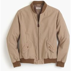 J.Crew Wallace & Barnes garment-dyed cotton MA-1 bomber jacket ($148) ❤ liked on Polyvore featuring men's fashion, men's clothing, men's outerwear, men's jackets, mens bomber jacket, mens fleece lined jacket, j crew mens jackets, mens light weight jackets and mens vintage jackets