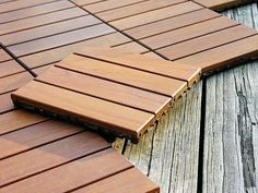Outdoor Wood Deck Ideas With Outdoor Flooring Deck Tile Wood Deck Tiles, Patio Tiles, Outdoor Tiles, Ikea Deck Tiles, Ipe Decking, Hardwood Decking, Outdoor Decking, Ipe Wood, Outdoor Balcony