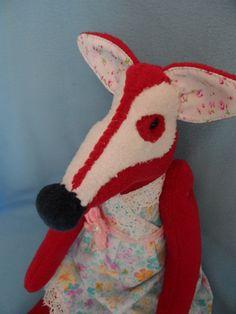 Softie Plush toy funny fox bunny rabbit tilda dol by FunnyBunny345