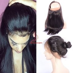 www.chinacharminghair.com 360 hair lace frontal straight style