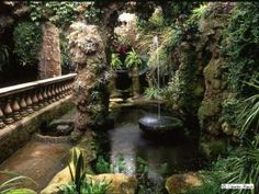 Lion Grotto, Dewstow gardens, Monmouthshire