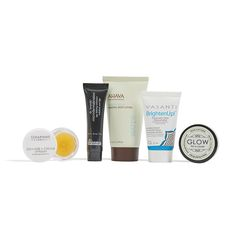 This Offer includes:  Full-size Seraphine Botanicals LIP POLISH - ORANGE+CREAM Deluxe-sample size AHAVA Mineral Body Lotion Deluxe-sample size Dr. Brandt Microdermabrasion Deluxe-sample size GLOW for a cause FACIAL CLAY SCRUB Deluxe-sample size VASANTI COSMETICS Brighten Up! Enzymatic Face Rejuvenator - Exfoliating Cleanser