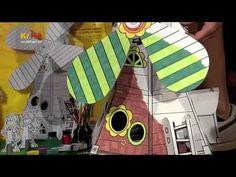 Vorstellung der Mit-mach-Mühle von CALAFANT im Kinderkanal Kika. Die Mühle kann die Flügel drehen und nach Deinen Vorstellungen bemalt werden. #pappe #mühle #kinder