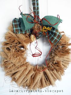 Lake Girl Paints: Burlap Wreath Craft Party