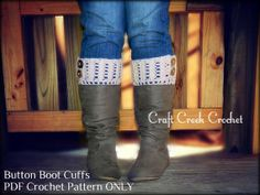 Easy crochet boot cuff pattern for toddler, children, teenager, adult, & plus size. You may sell the items you make using this pattern!