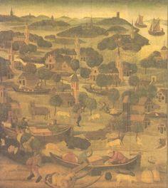 Elisabeth van Thuringen. ca 1500. Paneel. Nederland, Amsterdam, Rijksmuseum Elisabethsvloed.