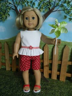"American Girl doll clothes summer outfit for American Girl doll or similar 18"" doll"