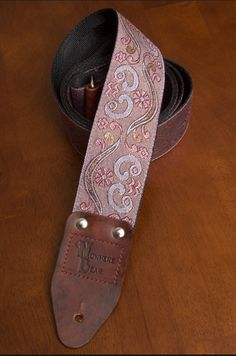 Purple PsychedelicShimmering Guitar Strap by nowherebearstraps, $55.00