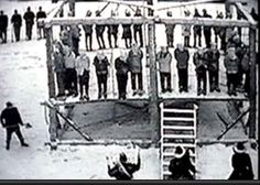 Largest Mass Hanging in US History: 38 Dakota Warriors hung in Mankato, Minnesota- December 26, 1862,