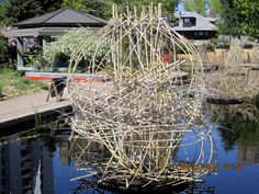 A floating sculpture made of natural bamboo - one of many - at the Denver Botanical Gardens.  Happy Earth Day!