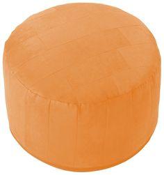 Modernes Sitzkissen aus 100% Polyester. Füllung aus 100% Holzwolle. Erhältlich in zwei Größen. Maße ca. (Durchmesser/H): groß: 50/34 cm, klein: 43/32 cm....
