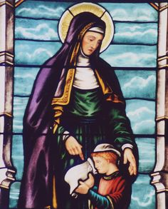 Saint Monica was raised in a Christian family but married a pagan man.  She prayed constantly for his and her children's conversion. Even though she was in a less than desirable relationship, her example of patience and kindness to other women was a profound one.  Her prayers were answered when her husband and son, who is St. Augustine, did finally convert.  She is the patron saint of mothers, wives, abuse victims, and alcoholics, as it is thought she was a reformed alcoholic.