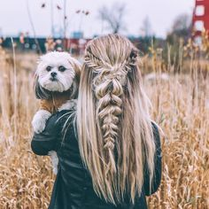 Fishtail and pull through braid !! ✌ #braids #hairstyles #blondie