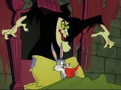 """Looney Tunes """"TRANSYLVANIA 6-5000"""" -- Bugs has to stop making that wrong toin at Albuquerque. He winds up in Transylvania looking for a telephone at the spooky castle of Count Bloodcount."""