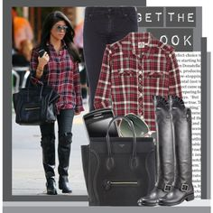 Love her boots...I like the casual and cool outfit too.