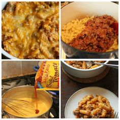 ~Queso Taco Pasta~ **Ingredients** 1/4cup butter ● 1/4cup all-purpose flour ● 1/2teaspoon salt ● 1/4teaspoon pepper ● 1 1/2cups chicken broth ● 1 1/2cups shredded Cheddar cheese (6 oz) ● 1pouch (8 oz) Old El PasoTM roasted tomato Mexican cooking sauce ● 1cup finely chopped onion (2 medium) ● 1lb lean (about 80%) ground beef ● 1tablespoon ground cumin ● 1cup Old El PasoTM Thick 'n Chunky salsa ● 1box (1 lb) rotini pasta ● 1cup shredded Mexican cheese blend (4 oz) ● **Directions** Heat oven to…