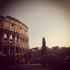 Blick auf das Colosseum in Rom.