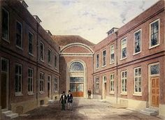 The Inner Court of Girdlers Hall Basinghall Street, 1853 (w/c on paper) Wall Art & Canvas Prints by Thomas Hosmer Shepherd