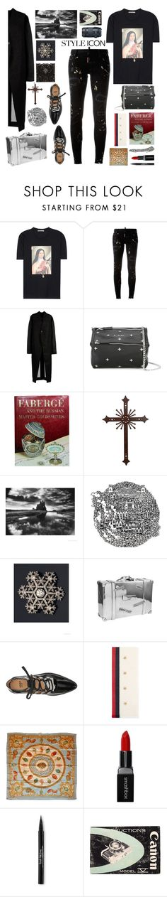 """""""The Love of the Good"""" by sue-mes ❤ liked on Polyvore featuring Christopher Kane, Dsquared2, Rick Owens, Givenchy, Fabergé, NOVICA, Toga, Gucci, Smashbox and Trish McEvoy"""
